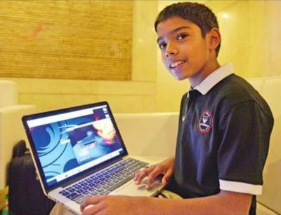 طفل هندي يعتبر أصغر رئيس تنفيذي في عالم التكنولوجيا
