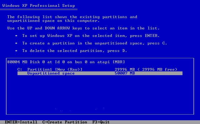 كيفية عمل فورمات للهارد ديسك ثم تقسيمه بنظام تشغيل ويندوز أكس بي
